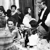Franco Zeffirelli, Susan Strasberg and the Duchess of Kent. Royal Opera House, 1964.